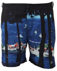 Orlebar Brown Bulldog Tuscan Mid-length Swim Shorts - Blue