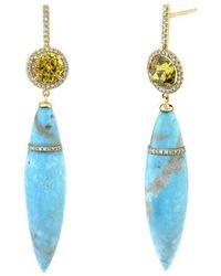 Emily P. Wheeler Persian Turquoise Earrings - Blue