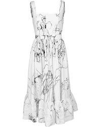 Alexander McQueen Dancing Girl Sleeveless Dress - White