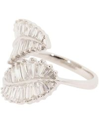 Anita Ko Palm Leaf Diamond Ring - Metallic