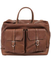 Brunello Cucinelli - Weekender Bag With Front Pockets - Lyst