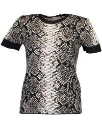 ESCADA And White Short Sleeve Santa Fe T-shirt - Black