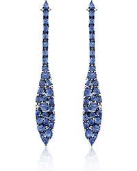 Sutra Mosaic Blue Sapphire Drop Earrings