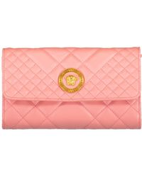 Versace Quilted Chain Wallet - Pink