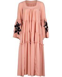 Sensi Studio Balconette Embroidered Maxi Dress - Pink