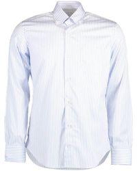 Eleventy Denim Wide Stripe Shirt - Blue