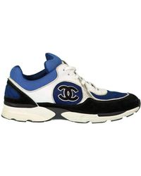 Chanel Low Top Logo Sneaker - Blue
