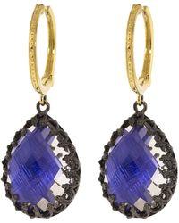 Larkspur & Hawk Lady Jane Large Pear Drop Earrings - Metallic