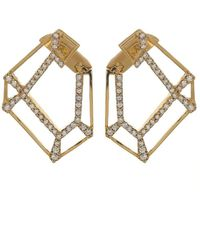 Kavant & Sharart Origami Skeleton Diamond Earrings - Metallic