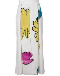 Adam Selman Floral Maxi - White