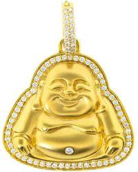 Buddha Mama - Medium Diamond Buddha Pendant - Lyst