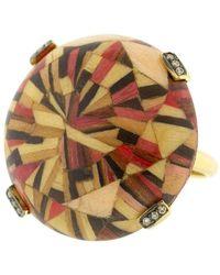 Silvia Furmanovich Red Marquerty Brown Diamond Ring - Metallic