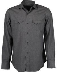 Eleventy Texas Snap Shirt - Grey