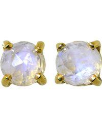 Irene Neuwirth - Rainbow Moonstone Stud Earrings - Lyst