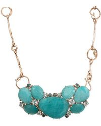 Federica Rettore - Amazonite Necklace With Aquamarines - Lyst