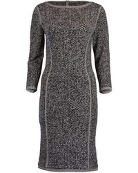 Michael Kors Jacquard Tweed Dress - Gray