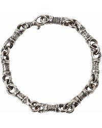 John Varvatos Silver Barrel Link Bracelet - Metallic