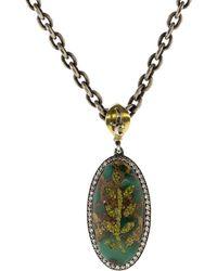 Sevan Biçakci - Diamond Embellished Turquoise Necklace - Lyst
