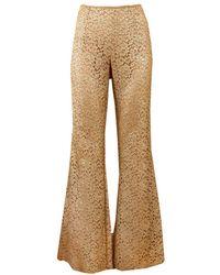 Michael Kors Flare Lace Pant - Metallic