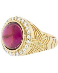 Marlo Laz Pink Tourmaline Gypsy Ring