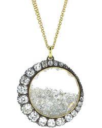 Renee Lewis Diamond Crescent Shake Necklace - Metallic