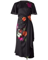 Prabal Gurung Side Cut-out Flutter Sleeve Dress - Multicolour