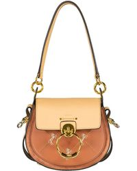 Chloé Tess Embroidered Horses Bag - Brown