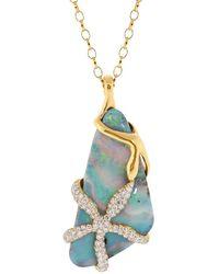 Monica Rich Kosann Opal And Diamond Star Fish Pendant Necklace - Multicolour