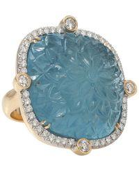 Pamela Huizenga - Large Carved Aquamarine Ring - Lyst