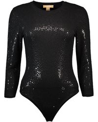 Michael Kors Paillette Bodysuit - Black