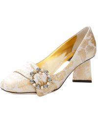 Dolce & Gabbana - Jacquard Pyramid Heels - Lyst