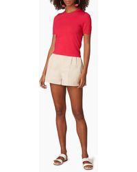 Carolina Herrera Azalea Short Sleeve Knit T-shirt - Pink