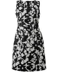Oscar de la Renta - Floral Slim Dress - Lyst