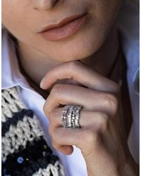 Suzanne Kalan Felicity Diamond Half Band - White Gold