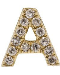 EF Collection - Diamond Initial A Stud Earring - Lyst