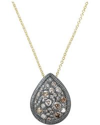 Todd Reed - Autumn Mixed Diamond Pear Necklace - Lyst