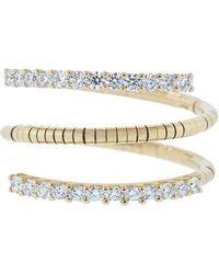 Mattia Cielo - Rugiada Three Wrap Ring With Diamond Pave - Lyst
