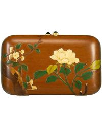Silvia Furmanovich Green Tourmaline And Marquetry Flower Clutch - Multicolor