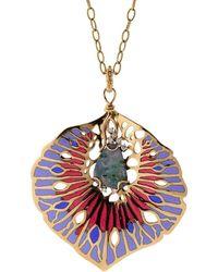 Federica Rettore Opal, Diamond, And Enamel Orticoloa Necklace - Metallic