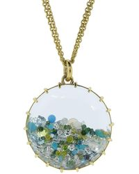 Renee Lewis Opal, Aquamarine, Turquoise And Diamond Shake Necklace - Metallic