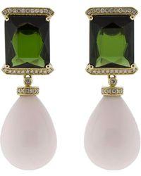 Dana Rebecca - Tourmaline & Aragonite Earrings - Lyst