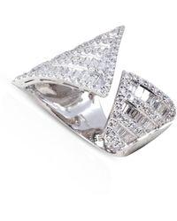 Kavant & Sharart Origami Asymmetry Silhoutte Diamond Ring - Metallic