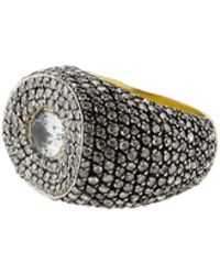 Yossi Harari - Suzi White Sapphire And Diamond Pave Ring - Lyst