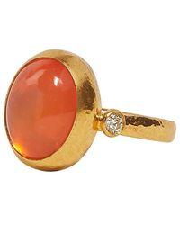 Gurhan Rune Orange Opal And Diamond Ring - Multicolor