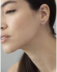 Wwake Blush Gradient Three-step Earrings - Multicolour