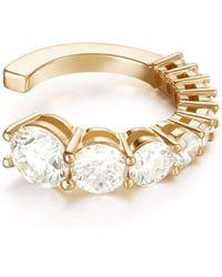 Melissa Kaye Aria Diamond Earcuff - Metallic