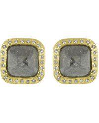 Todd Reed Fancy Diamond Stud Earrings - Metallic