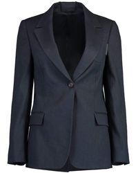 Brunello Cucinelli Three Pocket Front Button Jacket - Blue