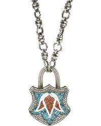 Sevan Biçakci - Turquoise Mosaic Tulip Padlock - Lyst