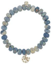 Sydney Evan Horseshoe Blue Opal Bracelet